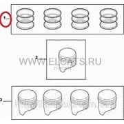 Кольца поршневые STD 70.80 1.2*1.2*2.5 1.2 8v Doblo 2000-2005(4cyl) 71715336 фото