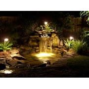 Освещение водоема фото