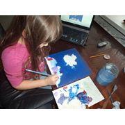 Батик экспресс-живопись мастер-классы уроки рисования фотография