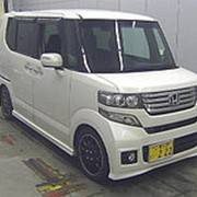 Микровэн турбо HONDA N BOX PLUS кузов JF2 класса минивэн гв 2013 4WD пробег 62 т.км белый жемчуг фото