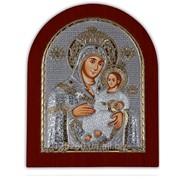 Икона Божией Матери Вифлеемской серебро 925 Silver Axion Греция позолоченная на деревянной основе 156 х 190 мм фото