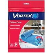 Салфетки для уборки Vortex Целлюлозные, 2 шт 19x19 см фото