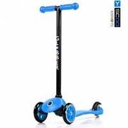 Самокат Y-SCOO RT GLOBBER My free FIXED blue с блокировкой колес фото