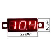 Цифровой микро вольтметр без корпуса DC, 0-100V, (красный), настраиваемый фото