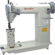 Двухигольная колонковая швейная машина фото