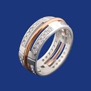 Кольцо серебряное Виктория фото