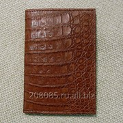 Обложка для паспорта из каймана фото