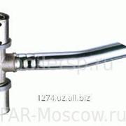 Пресс-тройник 20х2 с хромированной трубой, L = 25см, D 15мм для подключения к радиатору, артикул 5921200125 фото