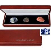 Деревянный футляр для минералов и драгоценностей 250Х75 мм - SAFE фото