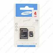 MicroSDHC Samsung Essential 4 гигабайта - фото