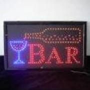 Установка светодиодных рекламных панелей (досок), надписи и рисунки на которых выполняются специальным флуоресцентным маркером. Неоновые рекламные вывески. фото