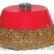 Щетка торцевая из рифленой проволоки для углошлифовальных машин 65 м14 фото