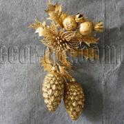 Подвеска шишки золотые 21 см 5510 фото