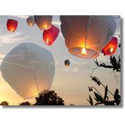 Доставка небесных воздушных фонариков фото