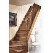 Лестница с изгибом JURA QT (ДЖУРА) Бук фото