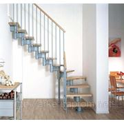 Лестница маршевая Arke Kompact 74. Лестницы Киев. Лестницы Арке фото