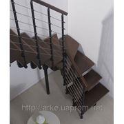 Лестница маршевая Arke Komoda 74. Лестницы з дерева. Лестницы для дачи фото