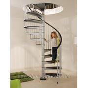 Винтовая лестница Arke Сivik, диаметр 120см, белая/серая/черная фото
