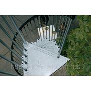 Винтовая лестница Arke Сivik ZINK для наружного использования, диаметр 160 см фото