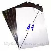 Магнитный винил формат А4 с клеевым слоем 0,4 мм фото