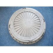 Люк канализационный пластиковый лёгкий чёрный (тип Л) 1,5 т диаметр 610мм фото
