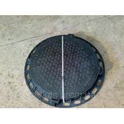 Люк канализационный (садовый) пластиковый лёгкий (тип Л) 1т чёрный диаметр 610мм фото