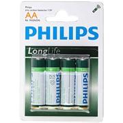 Элемент питания AA Philips R6 Long Life 1.5V фото