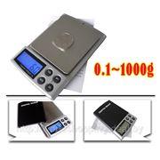 Портативные весы до 1000гр. точность 0.1гр. фото