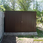 Железный гараж. Новый металлический гараж без места фото