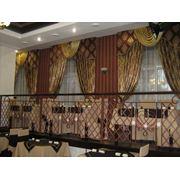 Дизайн текстильный общественных заведений. Текстильное оформление банкетных залов. Текстиль для ресторана фото