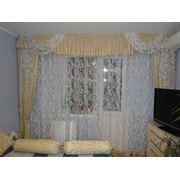 Пошив штор гардин установка жалюзи роллетов дизайн штор перетяжка мебели. фото