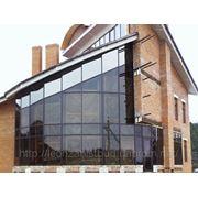 Фасады, витражи, витрины, зимние сады, стеклянные купола. Алюминиевый профиль. фото