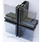 Полуструктурная система фасадного остекления фото