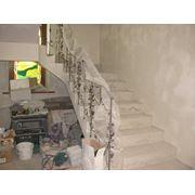 Изготовление монолитно-бетонных лестниц фото