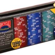 Покерные наборы Bicycle Premium 8-Gram Clay Poker Chips with Tray 100ct. фото