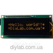 LCD 1602 HD44780 помаранчеві символи, чорний фон фото