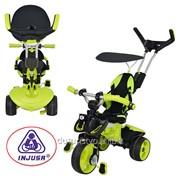Велосипед 3263-004 три колеса регулируемое сиденье зелен-черн 113-48-100с фото