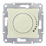 Светорегулятор поворотно-нажимной 25-325ВА (R+RС) бежевый Sedna фото