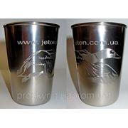 Гравировка на металлических стаканах фото