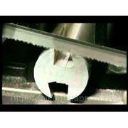 Порезка металлопроката ленточными пилами фото