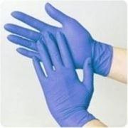 Синие нитриловые перчатки размер S фото