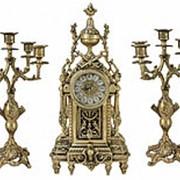 """Бронзовые каминные часы с канделябрами """"ДОН ЛУИ"""" (комплект) арт.BP-2711928-D Belo De Bronze фото"""