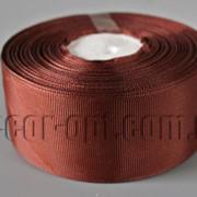 Лента репсовая оттенок коричневого 4 см 25 ярд арт.209 3933 фото