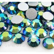 Стразы ДМС Blue Zircon AB ss3(1,4мм).Цена за 100шт. фото