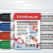 Набор маркеров для белых досок Erich Krause W500, круглый, 0,8-2,2 мм, 4 шт. фото