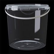Ведро пластиковое с крышкой  2,8л фото