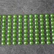 Камешки зеленые на липучке 8 мм 88 шт 5482 фото