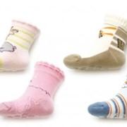 Носочки для мальчиков с прорезиненной подошвой sk-02 фото