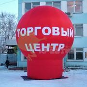 Воздушный шар на опоре фото