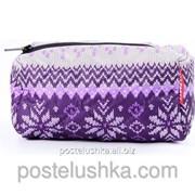 Косметичка cosmetic-snowflakes POOLPARTY Фиолетовый фото